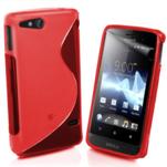 Gelové S-line pouzdro na Sony Xperia Go- červené - 1/3