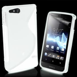 Gelové S-line pouzdro na Sony Xperia Go- bílé