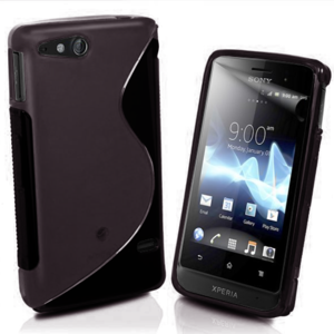 Gelové S-line pouzdro na Sony Xperia Go- černé - 1