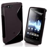 Gelové S-line pouzdro na Sony Xperia Go- černé - 1/3
