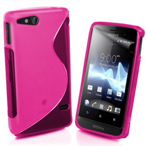Gelové S-line pouzdro na Sony Xperia Go- růžové - 1