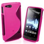 Gelové S-line pouzdro na Sony Xperia Go- růžové - 1/3