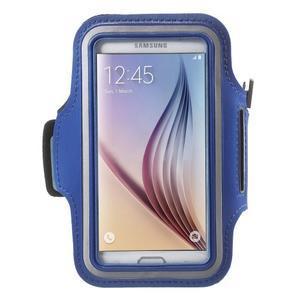 Fittsport pouzdro na ruku pro mobil do rozměrů 143.4 x 70,5 x 6,8 mm - modré - 1