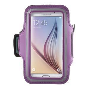 Fittsport pouzdro na ruku pro mobil do rozměrů 143.4 x 70,5 x 6,8 mm - fialové - 1