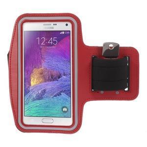 Gym běžecké pouzdro na mobil do rozměrů 153.5 x 78.6 x 8.5 mm - červené - 1