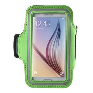 Fittsport pouzdro na ruku pro mobil do rozměrů 143.4 x 70,5 x 6,8 mm - zelené - 1