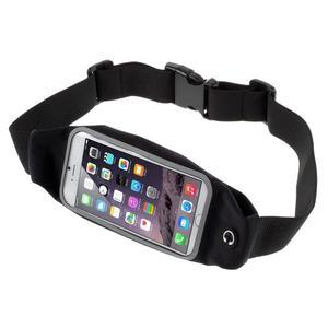 Sportovní kapsička přes pas na mobily do rozměrů 149 x 75 mm - černé - 1