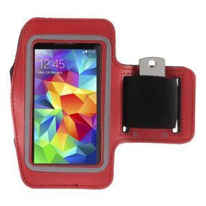 Run běžecké pouzdro na mobil do velikosti 131 x 65 mm - červené - 1