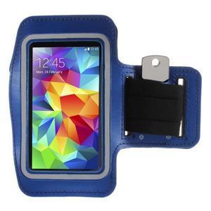 Run běžecké pouzdro na mobil do velikosti 131 x 65 mm - modré - 1