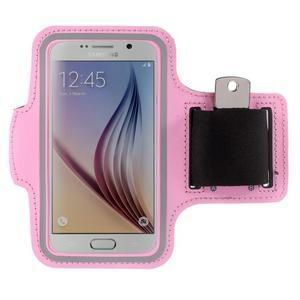 Gyms pouzdro na běhání pro mobily do 143 x 70 mm - růžové - 1