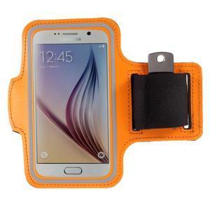 Gyms pouzdro na běhání pro mobily do 143 x 70 mm - oranžové - 1