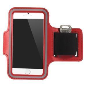Gymfit sportovní pouzdro pro telefon do 125 x 60 mm - červené - 1
