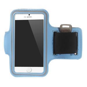 Gymfit sportovní pouzdro pro telefon do 125 x 60 mm - světle modré - 1