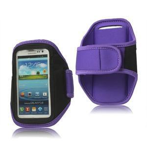 Fitness sportovní pouzdro na mobil (140 x 75 mm) - fialové - 1