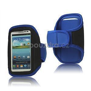 Fitness sportovní pouzdro na mobil (140 x 75 mm) - modré - 1