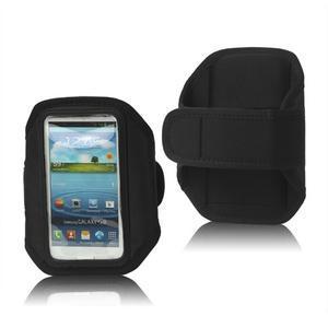 Fitness sportovní pouzdro na mobil (140 x 75 mm) - černé - 1