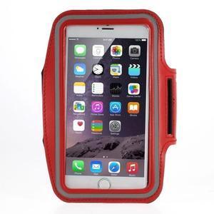 Soft pouzdro na mobil vhodné pro telefony do 160 x 85 mm - červené - 1