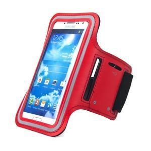 Červený sportovní obal na mobil do velikosti 145 x 75 mm - 1