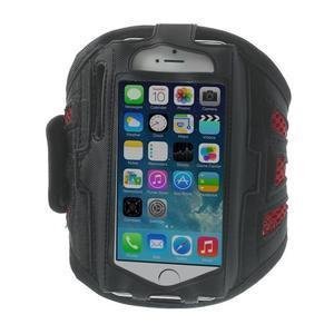 Absorb sportovní pouzdro na telefon do velikosti 125 x 60 mm - červené - 1