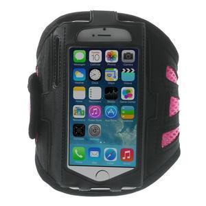 Absorb sportovní pouzdro na telefon do velikosti 125 x 60 mm - růžové - 1