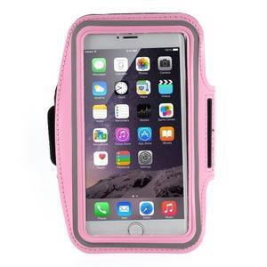 Soft pouzdro na mobil vhodné pro telefony do 160 x 85 mm - růžové - 1