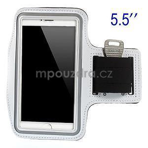 Běžecké pouzdro na ruku pro mobil do velikosti 152 x 80 mm - bílé - 1