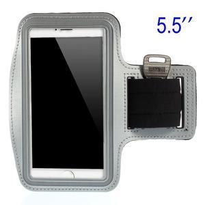 Běžecké pouzdro na ruku pro mobil do velikosti 152 x 80 mm - šedé - 1