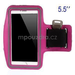 Běžecké pouzdro na ruku pro mobil do velikosti 152 x 80 mm - rose - 1
