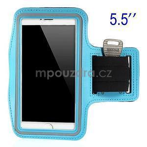 Běžecké pouzdro na ruku pro mobil do velikosti 152 x 80 mm - světlemodré - 1