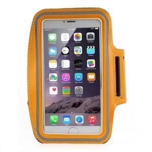 Soft pouzdro na mobil vhodné pro telefony do 160 x 85 mm - žluté - 1