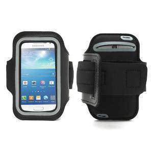 Černé pouzdro na ruku do velikosti mobilu 125 x 61 mm - 1