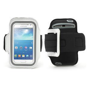 Bílé pouzdro na ruku do velikosti mobilu 125 x 61 mm - 1