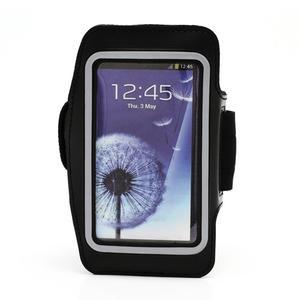 Sportovní pouzdro na ruku až do velikosti mobilu 140 x 70 mm - černé - 1