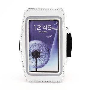 Sportovní pouzdro na ruku až do velikosti mobilu 140 x 70 mm - bílé - 1