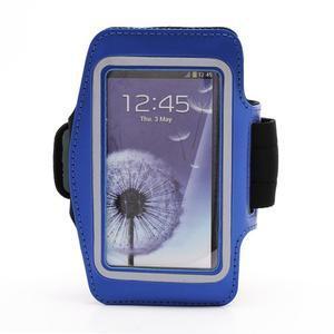 Sportovní pouzdro na ruku až do velikosti mobilu 140 x 70 mm - modré - 1