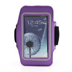 Sportovní pouzdro na ruku až do velikosti mobilu 140 x 70 mm - fialové - 1