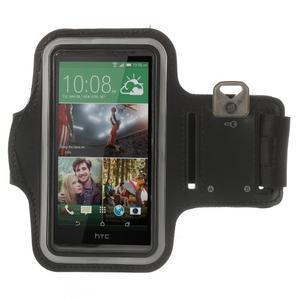 Černé Sports Gym pouzdo na ruku pro velikost mobilu až 150 x 70 mm - 1
