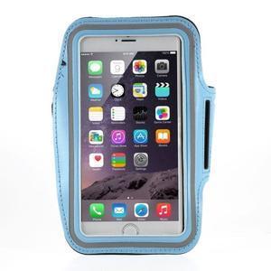 Soft pouzdro na mobil vhodné pro telefony do 160 x 85 mm - světle modré - 1