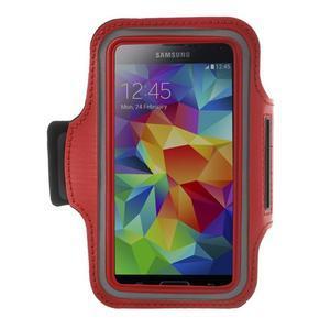 Fitsport pouzdro na ruku pro mobil do velikosti až 145 x 73 mm - červené - 1