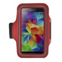 Fitsport pouzdro na ruku pro mobil do velikosti až 145 x 73 mm - červené - 1/7