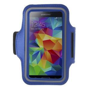 Fitsport pouzdro na ruku pro mobil do velikosti až 145 x 73 mm - tmavěmodré - 1