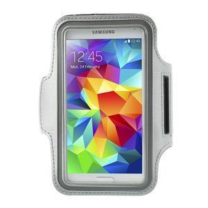 Fitsport pouzdro na ruku pro mobil do velikosti až 145 x 73 mm - šedé - 1