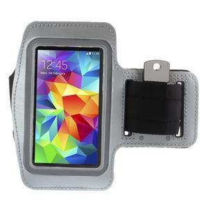 Run běžecké pouzdro na mobil do velikosti 131 x 65 mm - šedé - 1
