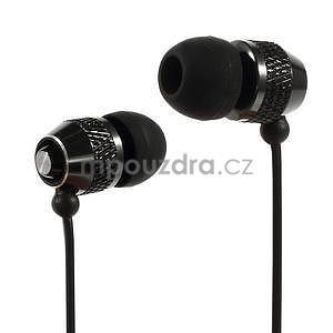 Špuntová sluchátka do mobilu, černá - 1