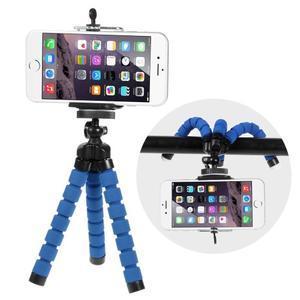 Trojnožkový stativ pro mobilní telefony - modrý - 1