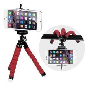 Trojnožkový stativ pro mobilní telefony - červený - 1