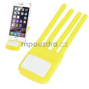 Tvarovatelný stojánek na mobil, žlutý - 1