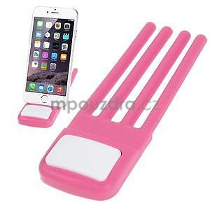 Tvarovatelný stojánek na mobil, růžový - 1