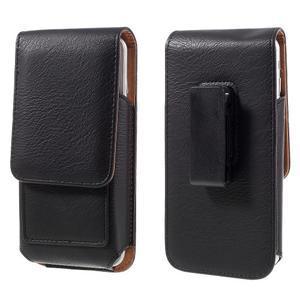 Pouzdro na opasek pro telefony do rozměru 160 x 84 x 18 mm - černé - 1