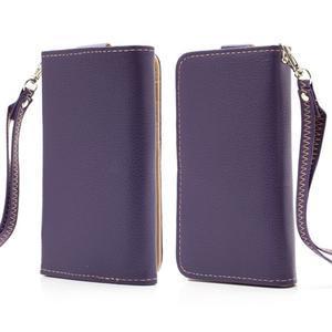 Softy univerzální pouzdro na mobil do 137 × 71 × 8,6 mm - fialové - 1